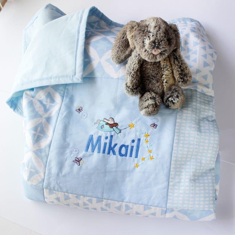 Personalised baby blanket / Name blanket / baby girl blanket / image 0