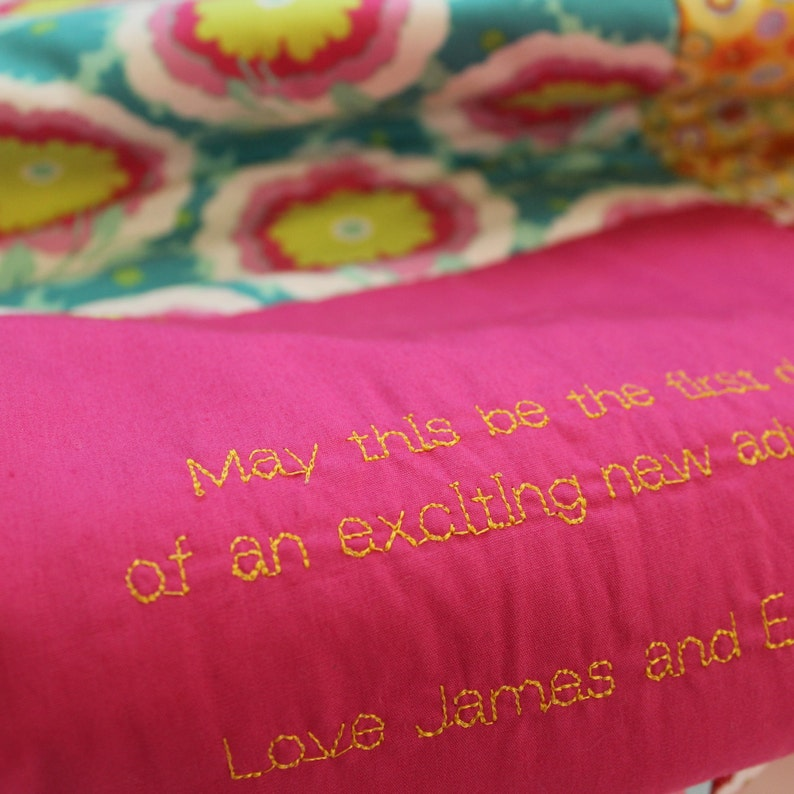 Personalised Embroidered Message Quilt image 0