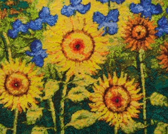 New Finished Completed Cross Stitch - Oil painting sunflower - F182