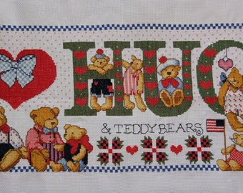 New Finished Completed Cross Stitch - HUGS - A41