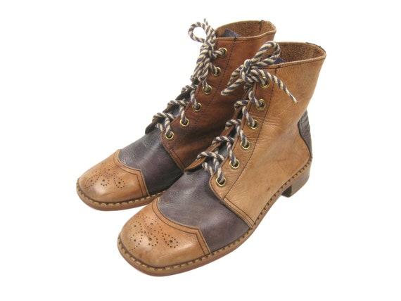 1960s/1970s Weinbrenner Cap Toe Semi Brogue Boots