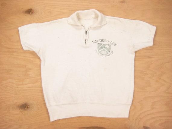 1960s Free Church Camp Sweatshirt Vintage Retro Wh