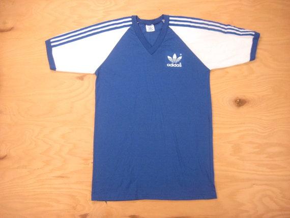 692858df7 1980s Adidas Trefoil Tee Vintage Retro 50/50 Cotton Blend | Etsy