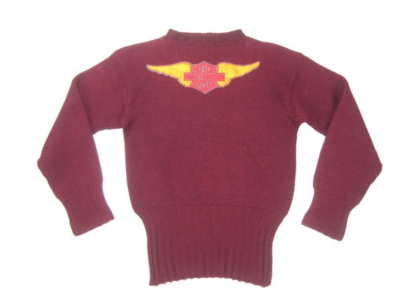 1940s Harley Davidson Sweater Vintage Mid Century Barclay Knit Etsy