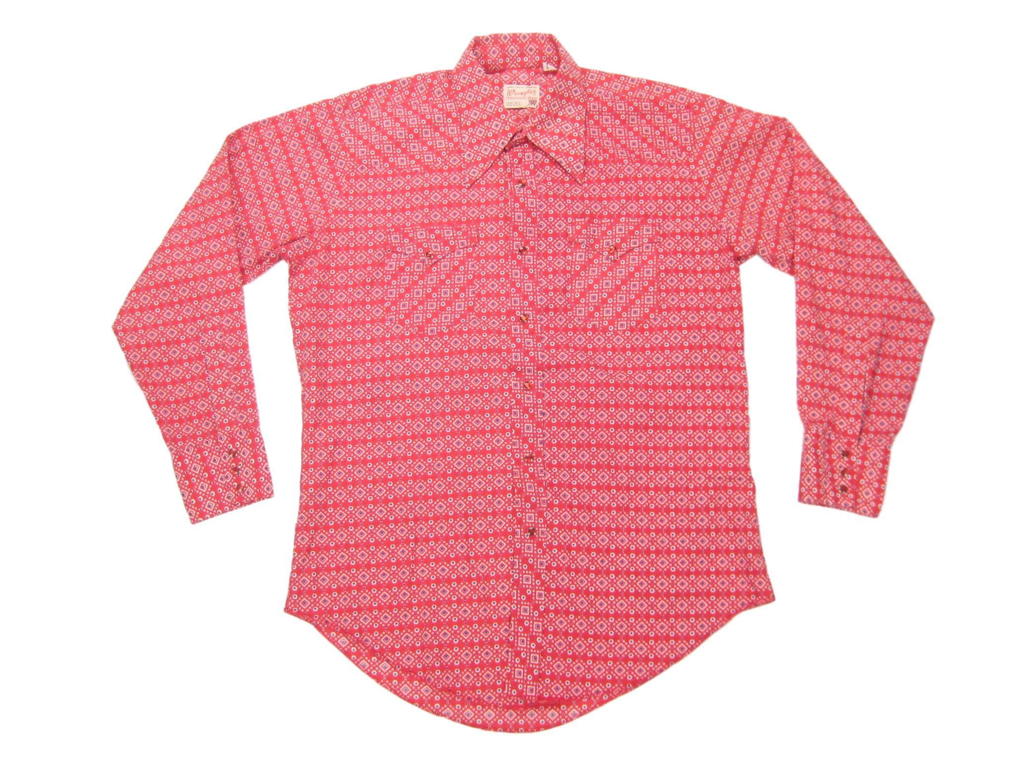 1970s Men's Shirt Styles – Vintage 70s Shirts for Guys 1960S1970S Wrangler Print Western Shirt Vintage Retro Mens Pearl Snap Hippie Cowboy Bandanna Ranch Long Sleeve Size 16 12 - 34 LLargexl $65.00 AT vintagedancer.com