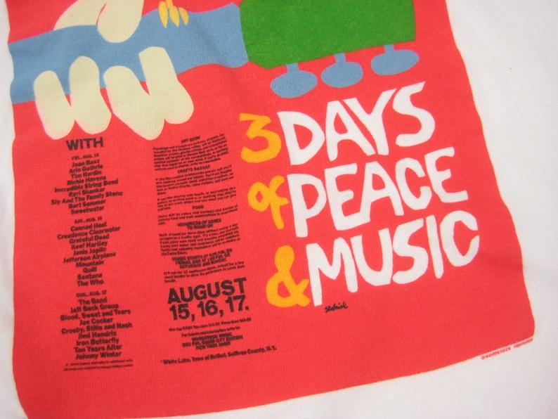 1990s Woodstock Flyer Sweatshirt Vintage Retro 1969 Original Festival Lineup New York Graphic Pullover XL