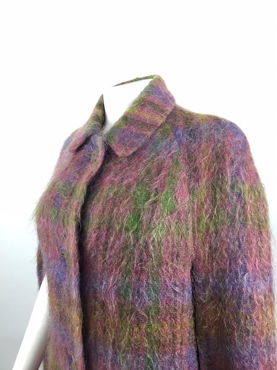 Vintage Andrew Stewart Mohair & Wool Tartan Cape -