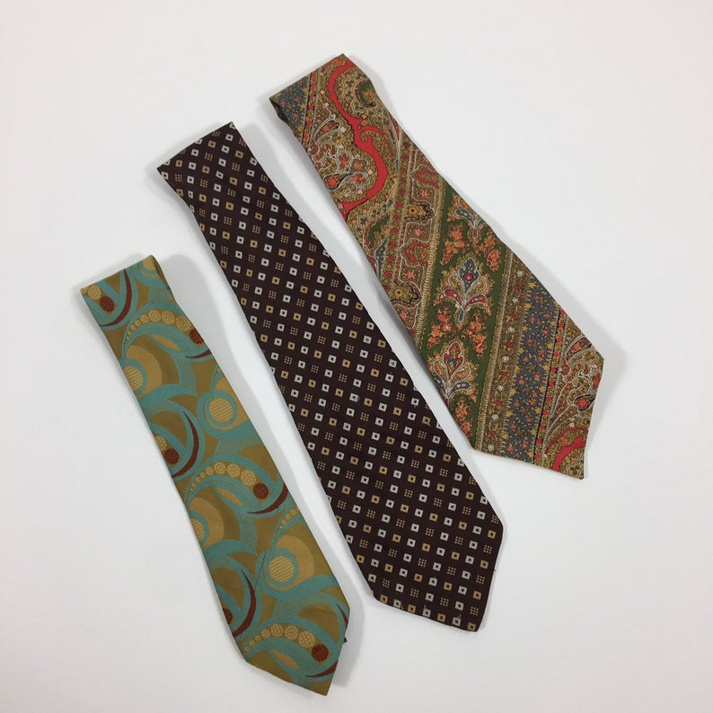 Vintage Liberty of London print /'Solid Gold/' branded wide tie