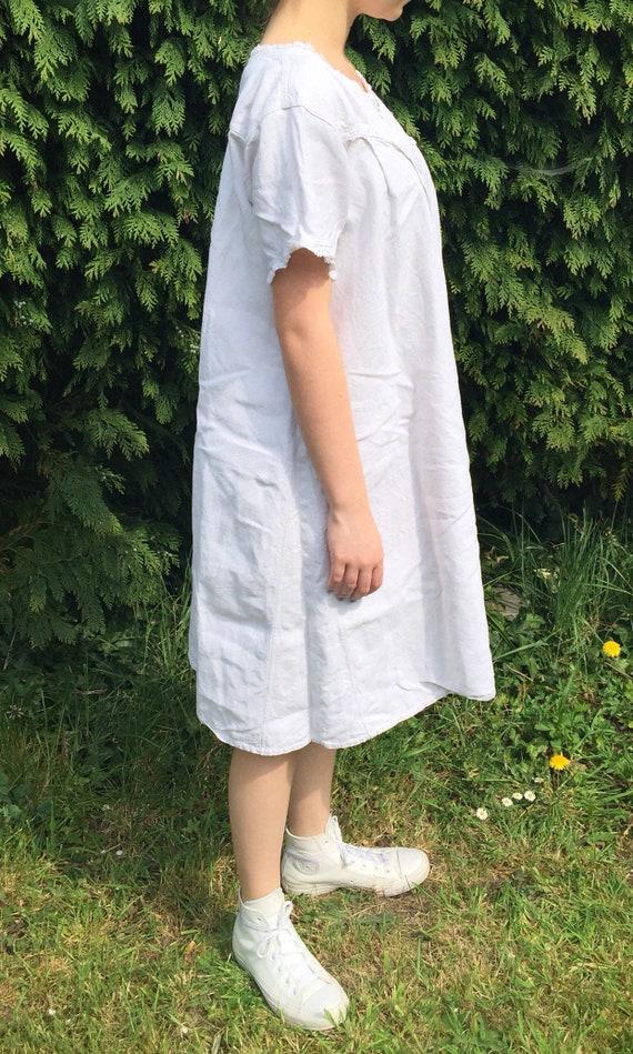 Antique Linen Paysan Work Shirt/Dress - image 6