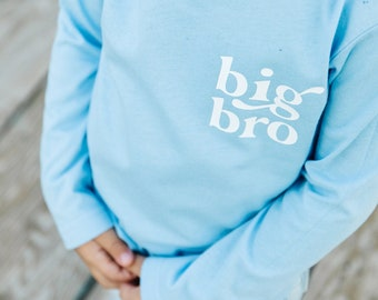 Baby blue Big brother shirt | blue big bro t-shirt | big brother t-shirt | big bro | big bro little bro | minimal big brother shirt