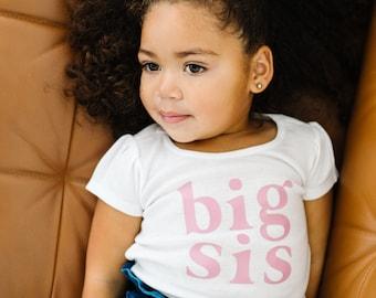 Big Sister shirt | toddler big sister shirt | big sister announcement | promoted to big sister | pink big sister shirt