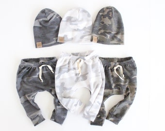 Jogger baby & toddler leggings | baby leggings | baby joggers | Camo baby leggings | camouflage baby | cute baby leggings |