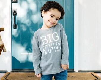 Big brother shirt | long sleeve big brother shirt | big brother t-shirt | big bro | big bro little bro | minimal big brother shirt