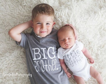 Big brother little brother | new baby announcement | brother shirts | cute brother shirt | big bro little bro | brother t-shirts