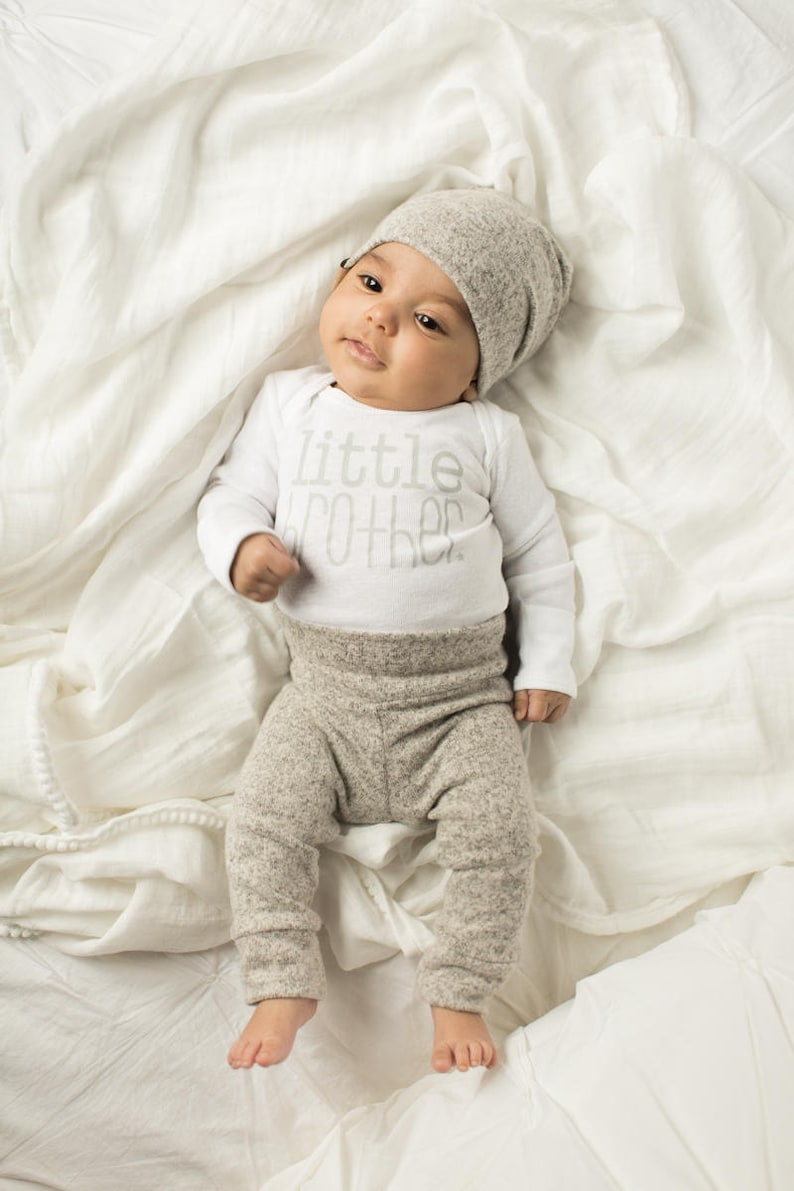 67d365ff786af Cozy Granite Grey 3 piece little brother outfit cute little | Etsy