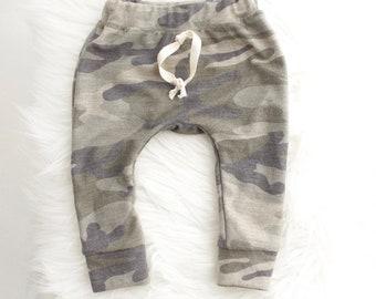Camo baby & toddler joggers | baby leggings | baby joggers | heather baby leggings | gray baby | hipster boy