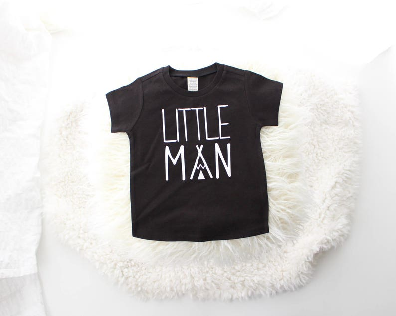 2T 5T Little Man T Shirt Cute Boy Clothes Baby