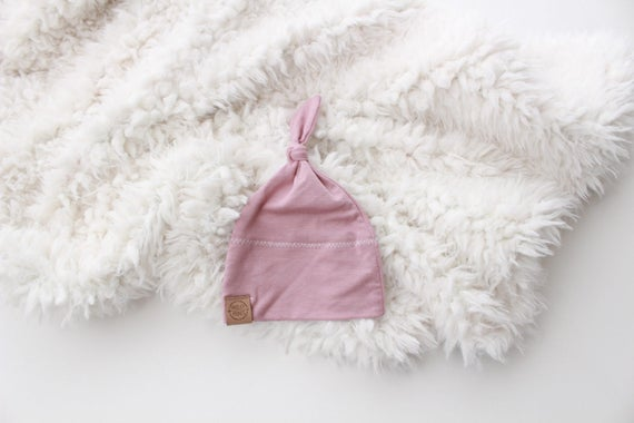 Mauve baby girl knot beanie newborn beanie newborn hat  ef8ae9d482d2