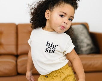 Big Sister shirt toddler | Cream big sister shirt | big sister reveal | natural big sister | big sister little sister