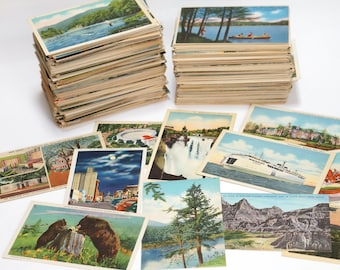 Old Postcards Unused Assortment of Random Vintage Post Cards from around the USA Choose your quantity