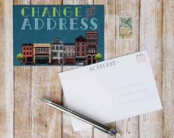Change of Address Post Cards - Moving Announcement Postcard - 4x6 Printed BLANK Card for Mailing - Pack of 20