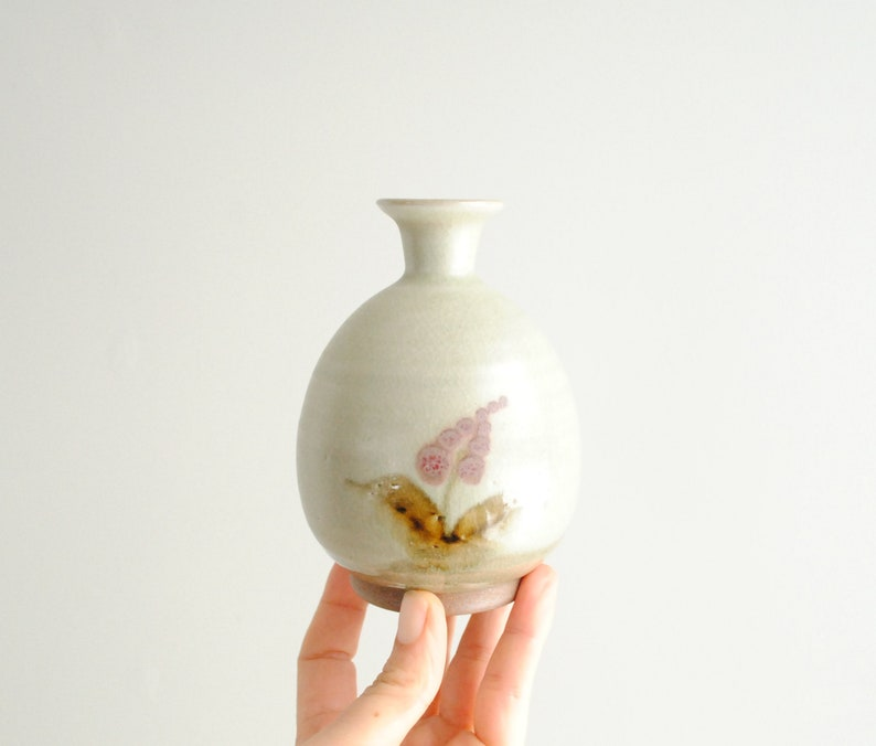Vintage Small Japanese Pottery Vase Bud Vase Ceramic Vase Etsy