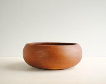 Vintage Teak Wood Bowl, Salad Bowl, Fruit Bow, Serving Bowl