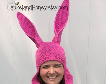 Bunny Rabbit Hat with POSE-ABLE EARS  ~  Made-to-order