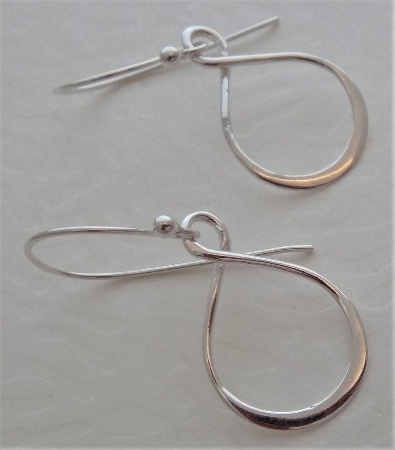 Sterling silver earrings silver infinity earrings silver eternity earrings silver teardrop earrings silver figure 8 earrings handmade