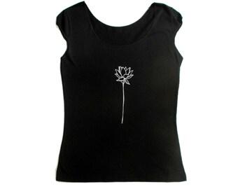 f710a5f32aa35 Lotus tshirt | Etsy