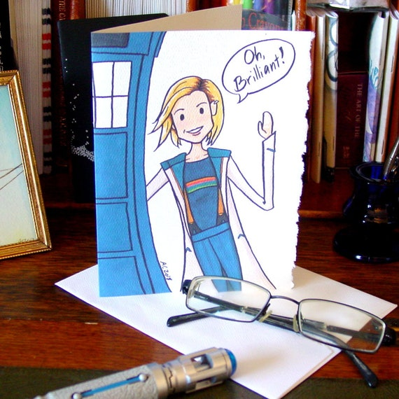 Doctor Who Card Thirteen Says Oh Brilliant Birthday Card Etsy