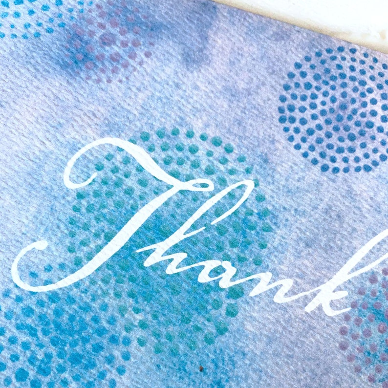 Thank You Card Blank Greeting Card featuring art by Amy Crook