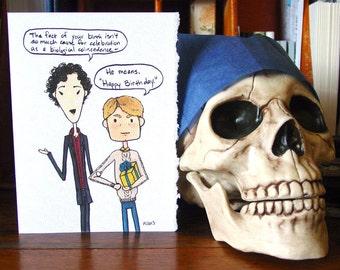 Sherlock Birthday Card 1 - BBC Sherlock Holmes and John Watson