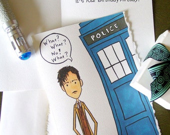 Doctor Who Greeting Card - Tenth Doctor - It's WHAT Already - Birthday - Anniversary - Christmas - Valentine