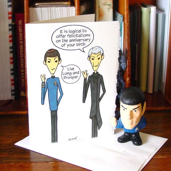 Spock Birthday Card Live Long And Prosper Star Trek Etsy