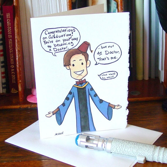 doctor who graduation card eleventh doctor congratulations etsy