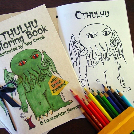 Cthulhu Coloring Book with Bonus Zombies Download and Print | Etsy