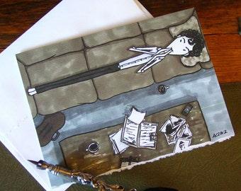 Sherlock Holmes Card - Thinking Pose