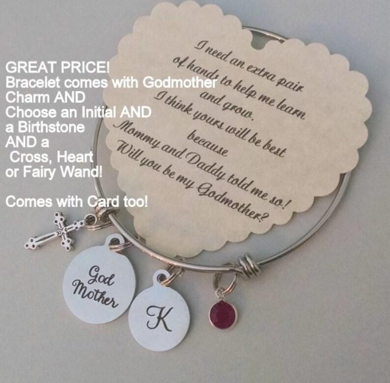 Godmother Bracelet Godmother Gift Will You Be My Godmother image 0