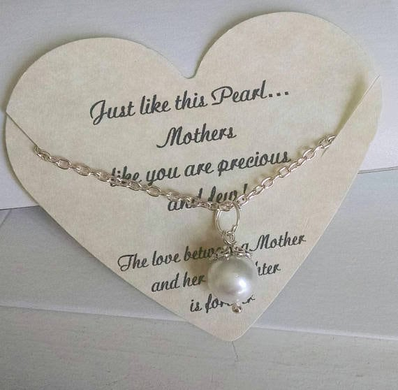 Pearl Necklace Mother Daughter Of The Bride