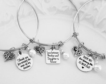 Mother Of The Groom Gift Mother In Law Thank You For Raising The Man Of My Dreams Mother In Law Bracelet Mother of the Bride