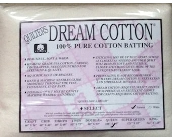 """Quilters Dream Queen Natural Cotton Select Quilt Batting 108"""" x 93"""""""