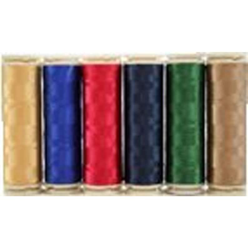 Six 400m Spools Wonderfil Invisafil 100 wt Polyester Thread Set B006
