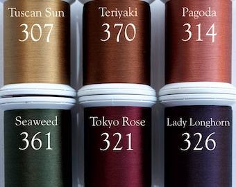 Superior Kimono 100 wt Silk Thread FALL 6 Spools