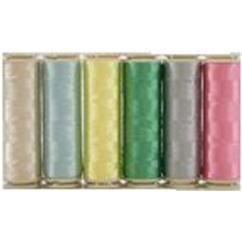 Six 400m Spools Wonderfil Invisafil 100 wt Polyester Thread Set B007