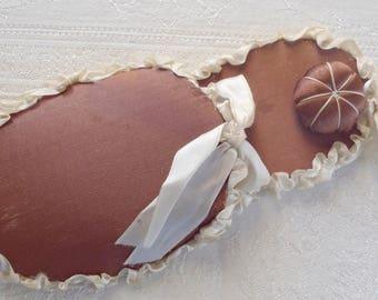 Vintage Slipper Pincushion Holder Fabric and Ribbon