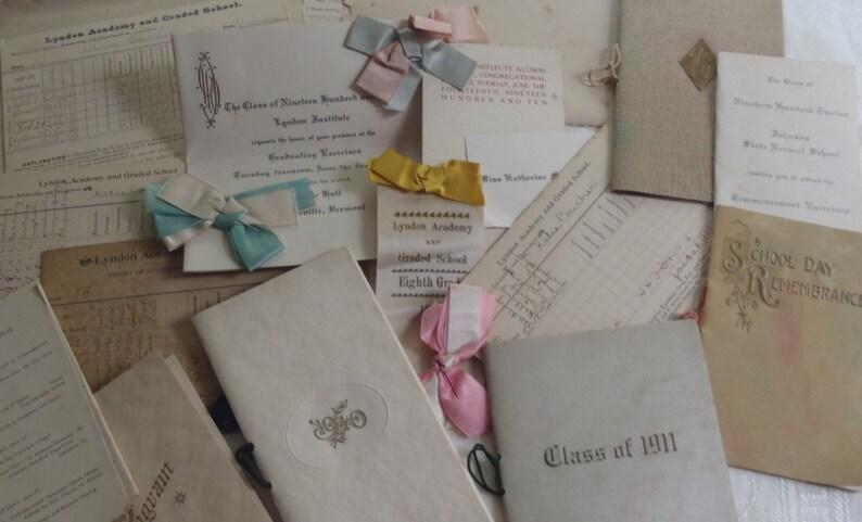 Vintage Paper Ephemera Vermont /& NH Schools Lyndon Johnson State Munsonville
