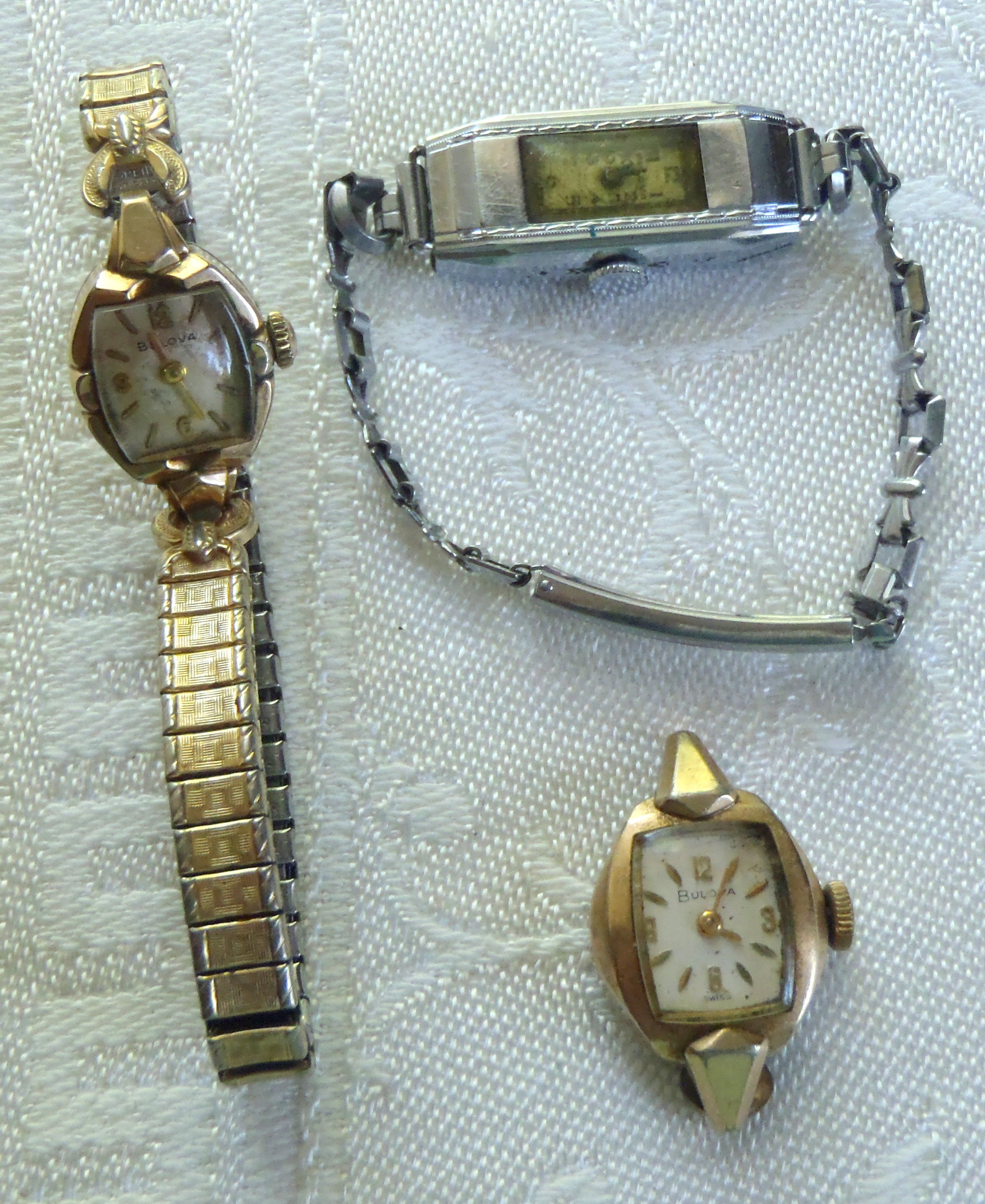 Vintage Bulova Ladies Wrist Watches for Parts