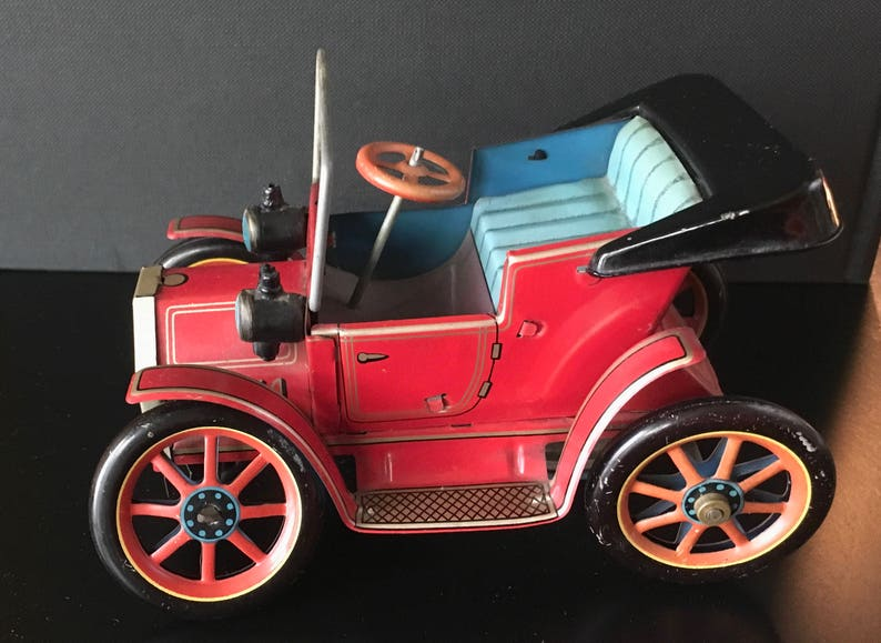 99fbada848d64 Old Timer No.1, Tin Lizzy, Lever Action, Model T from Masuduya Modern Toys,  Made in Japan, 1950's