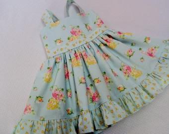3c77d64afc1 Girls Mint Floral Dress